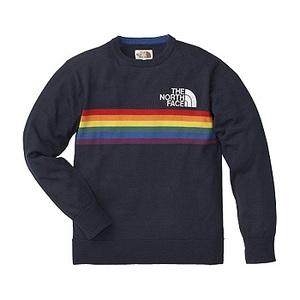 A5 Rainbow Knit Crew M N(ネイビー)