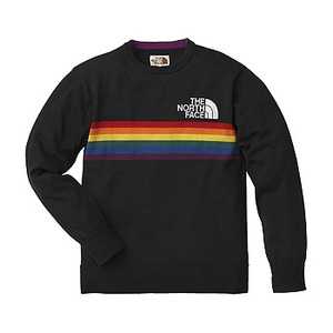 A5 Rainbow Knit Crew XL K(ブラック)