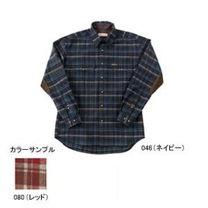 Fox Fire(フォックスファイヤー) ウォッシャブルウールプレーンチェックシャツ L 046(ネイビー)