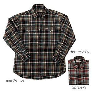 Fox Fire(フォックスファイヤー) テクノファイン ダークチェックシャツ S 060(グリーン)