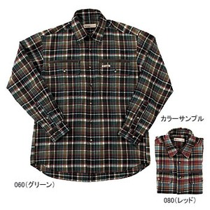 Fox Fire(フォックスファイヤー) テクノファイン ダークチェックシャツ L 060(グリーン)