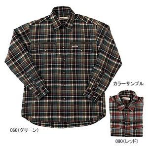 Fox Fire(フォックスファイヤー) テクノファイン ダークチェックシャツ L 080(レッド)