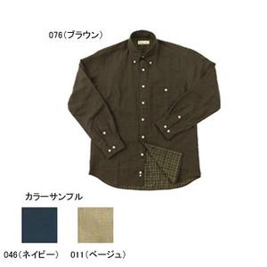 Fox Fire(フォックスファイヤー) テクノファインダブルフェイスチェックシャツ M 046(ネイビー)
