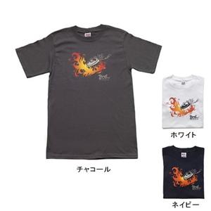 BOIL(ボイル) ファイヤーパターン Tシャツ M(USA) ネイビー