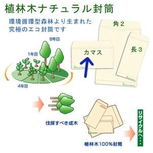 ハート カマス 植林木ナチュラル封筒 100 洋長3(120×235mm・500枚)