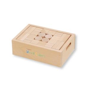 井筒屋 積み木ウッドキュウブ30ピース 高知県産ヒノキ材(H-30)