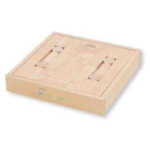 井筒屋 積み木ウッドキュウブ70ピース 高知県産ヒノキ材(H-70)