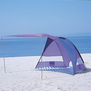 BUNDOK(バンドック) サンシェルターキャノピー付 UV Bラベンダー×ブルー