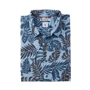 Columbia(コロンビア) ビーチャーアイランドIIプリントシャツ L 925(Copen Blue)