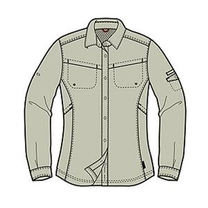 Columbia(コロンビア) ウィメンズ シルバーリッジIIIロングスリーブシャツ XL 160(Fossil)