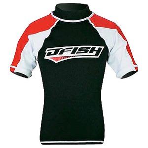 J-FISH ラッシュガード/半袖 120cm RED