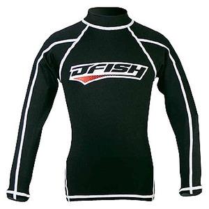 J-FISH ラッシュガード/長袖 100cm BLACK