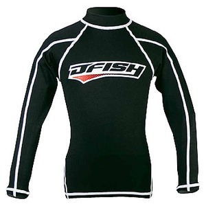J-FISH ラッシュガード/長袖 120cm BLACK
