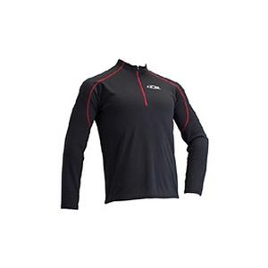 4DM(フォーディーエム) ZIPロングスリーブシャツ MENS L BL(ブラック)