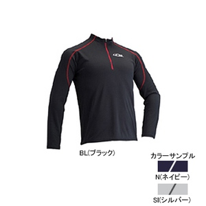 4DM(フォーディーエム) ZIPロングスリーブシャツ MENS O N(ネイビー)