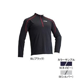 4DM(フォーディーエム) ZIPロングスリーブシャツ MENS M SI(シルバー)