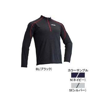 4DM(フォーディーエム) ZIPロングスリーブシャツ MENS XO SI(シルバー)