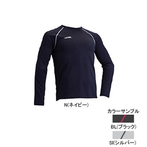 4DM(フォーディーエム) クルーロングスリーブシャツ MENS L SI(シルバー)