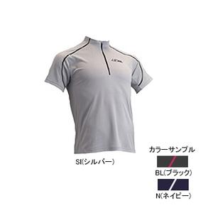 4DM(フォーディーエム) ZIPショートスリーブシャツ MENS L BL(ブラック)