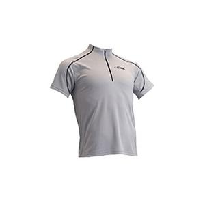 4DM(フォーディーエム) ZIPショートスリーブシャツ MENS O SI(シルバー)