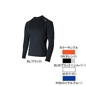 4DM(フォーディーエム) 吸汗・吸湿・速乾ロングスリーブシャツ MENS L BLSI(ブラック×シルバー)