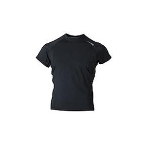 4DM(フォーディーエム) 吸汗・吸湿・速乾ショートスリーブシャツ MENS L BL(ブラック)
