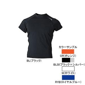 4DM(フォーディーエム) 吸汗・吸湿・速乾ショートスリーブシャツ MENS L BLSI(ブラック×シルバー)