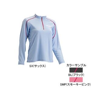 4DM(フォーディーエム) ZIPロングスリーブシャツ WOMENS S BL(ブラック)