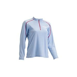 4DM(フォーディーエム) ZIPロングスリーブシャツ WOMENS L SX(サックス)