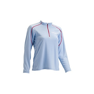 4DM(フォーディーエム) ZIPロングスリーブシャツ WOMENS S SX(サックス)