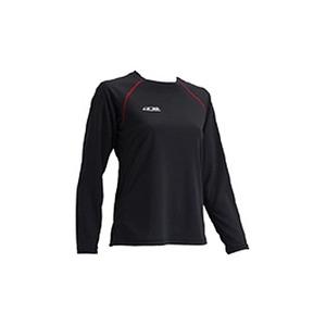 4DM(フォーディーエム) クルーロングスリーブシャツ WOMENS S BL(ブラック)