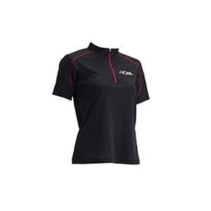 4DM(フォーディーエム) ZIPショートスリーブシャツ WOMENS L BL(ブラック)