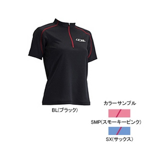 4DM(フォーディーエム) ZIPショートスリーブシャツ WOMENS L SMP(スモーキーピンク)