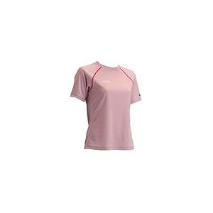 4DM(フォーディーエム) クルーショートスリーブシャツ WOMENS O SMP(スモーキーピンク)