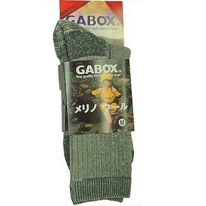 GABOX(ガボックス) メリノウールソックス S チャコール