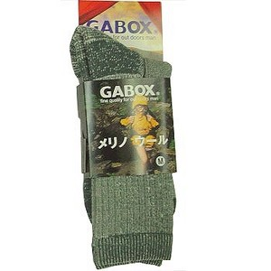 GABOX(ガボックス) メリノウールソックス M チャコール