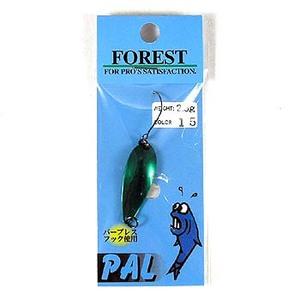 FOREST(フォレスト) PAL(パル) 2.5g 15 グリーン/赤ラメ
