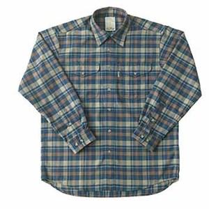 Fox Fire(フォックスファイヤー) サーマスタットヘリンボーンチェックシャツ L 046ネイビー