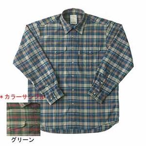 Fox Fire(フォックスファイヤー) サーマスタットヘリンボーンチェックシャツ S 060グリーン