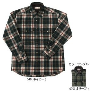 Fox Fire(フォックスファイヤー) ウォッシャブルウールツィルプレイドシャツ M's S 070(オリーブ)