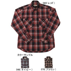 Fox Fire(フォックスファイヤー) トランスウェットセピアチェックシャツ M's S 046(ネイビー)