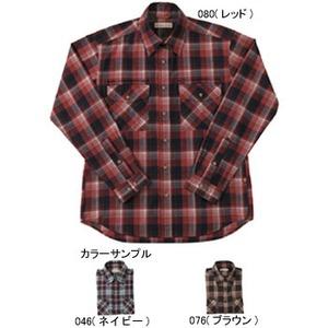 Fox Fire(フォックスファイヤー) トランスウェットセピアチェックシャツ M's M 046(ネイビー)