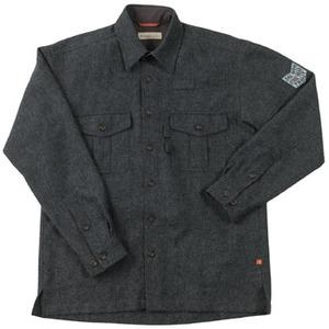 Fox Fire(フォックスファイヤー) ウォッシャブルウールプレーンオーバーシャツ M's S 023(チャコール)