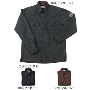 Fox Fire(フォックスファイヤー) ウォッシャブルウールプレーンオーバーシャツ M's S 075(マルーン)