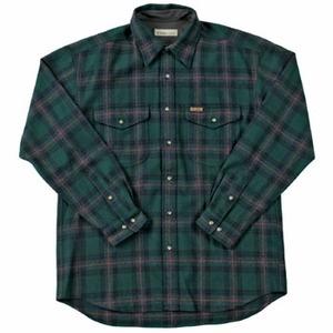 Fox Fire(フォックスファイヤー) ウォッシャブルウールクラシックチェックシャツ M's L 060(グリーン)