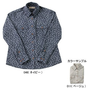 Fox Fire(フォックスファイヤー) QDCフラワーシャツ W's M 011(ベージュ)