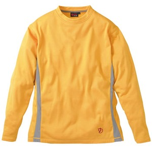 FJALL RAVEN(フェールラーベン) グリッドスキンロングTシャツ M 35(オレンジ)