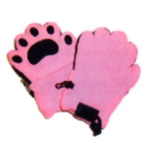 BEARHANDS(ベアーハンズ) ベアハンズ フリースミトン 子供用 ピンク
