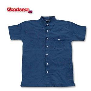 GOOD WEAR(グッドウェア) 半袖フルオープンシャツ L ネイビー
