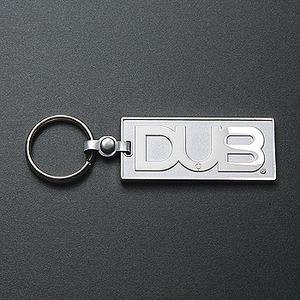 DUB(ダブ) キーホルダー SILVER/WHITE
